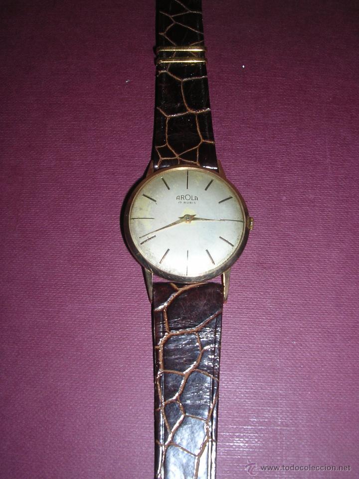 Relojes de pulsera: ANTIGUO RELOJ DE PULSERA CARGA MANUAL DE ORO 18KL. MARCA AROLA ,ESTADO DE MARCHA 4,4X3,6 CM. - Foto 2 - 44203828