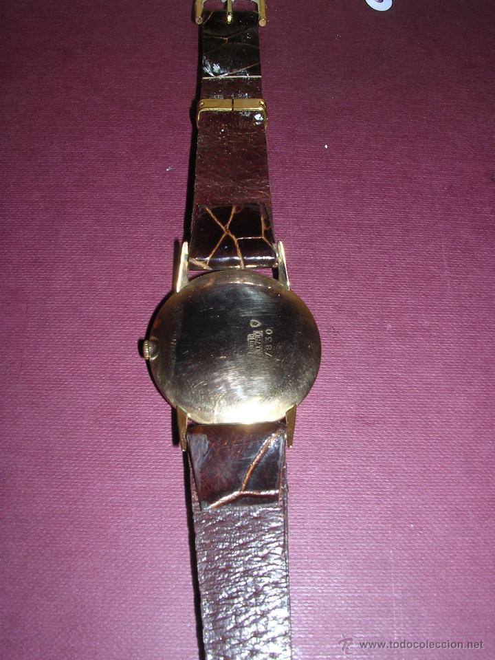 Relojes de pulsera: ANTIGUO RELOJ DE PULSERA CARGA MANUAL DE ORO 18KL. MARCA AROLA ,ESTADO DE MARCHA 4,4X3,6 CM. - Foto 3 - 44203828