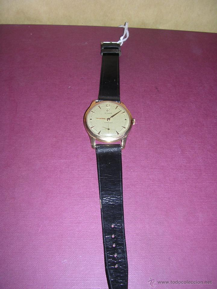 Relojes de pulsera: ANTIGUO RELOJ DE PULSERA CARGA MANUAL ORO 18 KL.- CYMA - ESTADO DE MARCHA , BUEN ESTADO 4,9X4,3 CM. - Foto 2 - 44203956