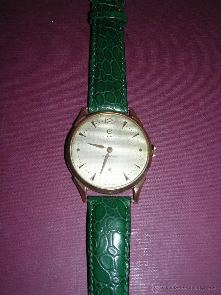 ANTIGUO RELOJ DE PULSERA CARGA MANUAL ORO 18 KL.- CYMA - ESTADO DE MARCHA , BUEN ESTADO 5X4,3 CM. (Relojes - Pulsera Carga Manual)