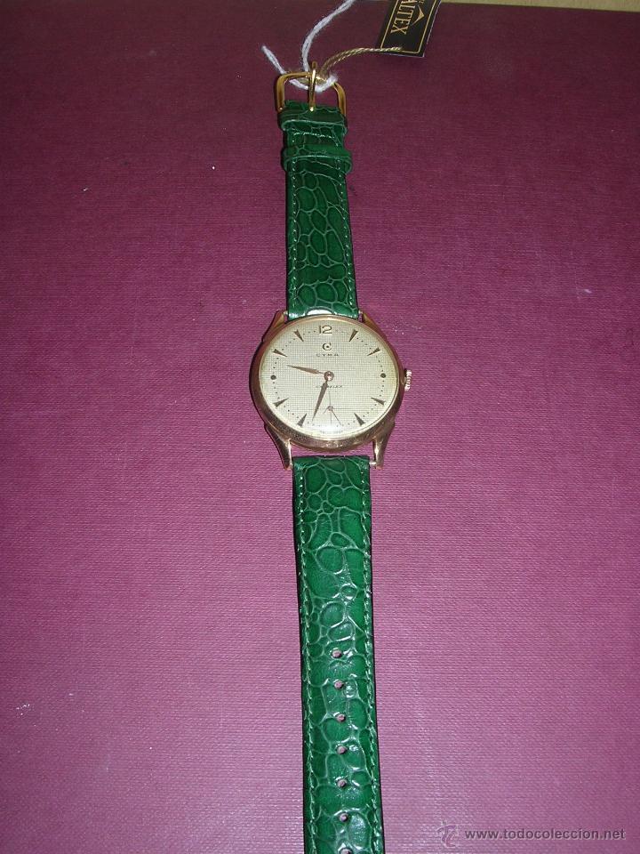 Relojes de pulsera: ANTIGUO RELOJ DE PULSERA CARGA MANUAL ORO 18 KL.- CYMA - ESTADO DE MARCHA , BUEN ESTADO 5X4,3 CM. - Foto 2 - 44204115