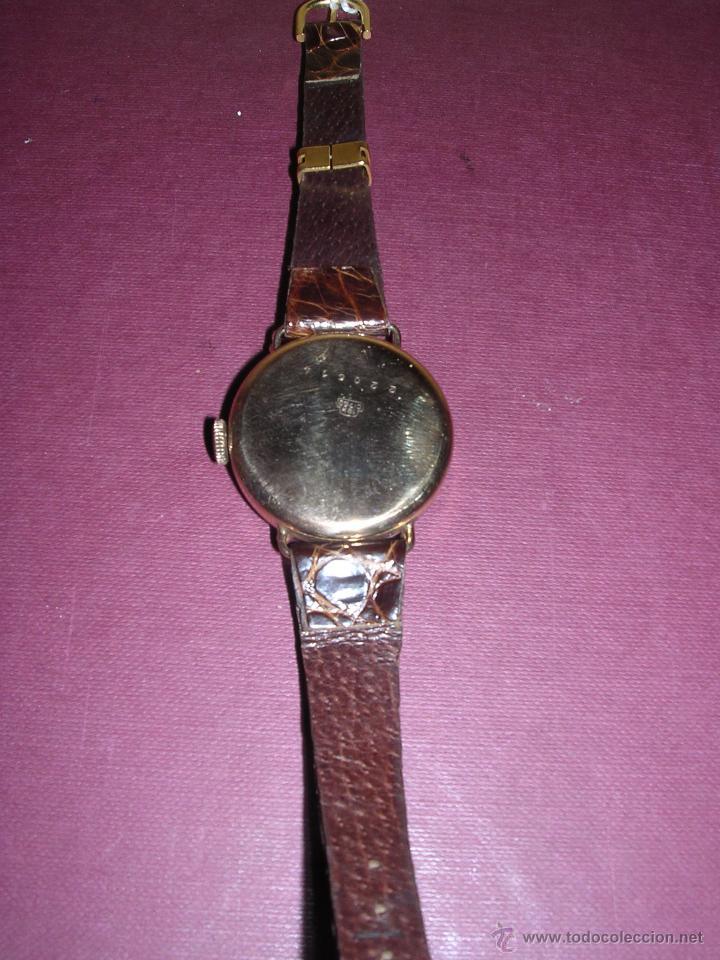Relojes de pulsera: ANTIGUO RELOJ DE PULSERA DE ORO 18KL.CARGA MANUAL MARCA ANCRE 15 RUBIS PRECISA REPASO , - Foto 3 - 44204595