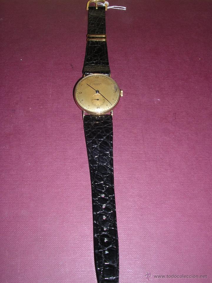 Relojes de pulsera: ANTIGUO RELOJ DE PULSERA CARGA MANUAL ORO 18 KL. MARCA UNIVERSAL GENEVE . ESTADO DE MARCHA 4X3,5 CM. - Foto 2 - 44204708