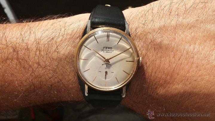 1353db0f895e Relojes de pulsera  Antiguo reloj de caballero de la rara marca Fero  Feldmann