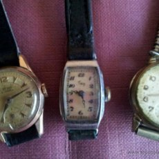 Relojes de pulsera: LOTE DE TRES RELOJES DE CUERDA. Lote 44504197