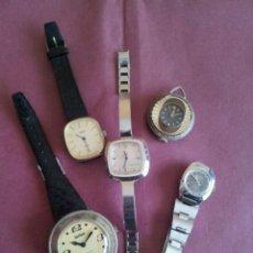 Relojes de pulsera: LOTE DE 5 RELOJES DE CUERDA. Lote 44505143