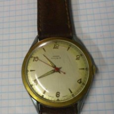 Relojes de pulsera: RELOJ DE CABALLERO A CUERDA OMIKRON 15 RUBIS SWISS MADE. Lote 44812274