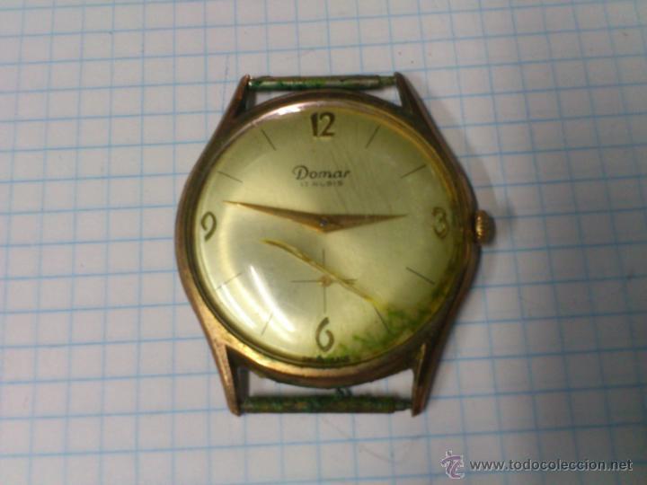 RELOJ DE CUERDA DOMAR 17 RUBIS SWISS MADE FUNCIONANDO (Relojes - Pulsera Carga Manual)