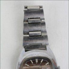 Relojes de pulsera: RELOJ DE PULSERA MASCULINO MASSY DE LUXE - PIEZAS O RESTAURACIÓN - PLATEADO - CAJA 35 MM DIÁMETRO. Lote 45135661