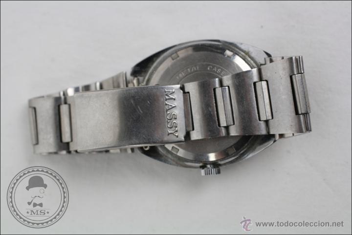 Relojes de pulsera: Reloj de Pulsera Masculino Massy de Luxe - Piezas o Restauración - Plateado - Caja 35 Mm Diámetro - Foto 4 - 45135661