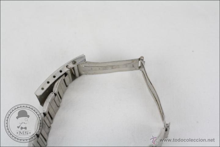 Relojes de pulsera: Reloj de Pulsera Masculino Massy de Luxe - Piezas o Restauración - Plateado - Caja 35 Mm Diámetro - Foto 7 - 45135661
