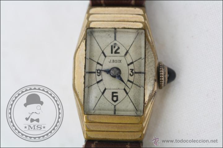Relojes de pulsera: Reloj de Pulsera Femenino J. Boix - Manual. Funciona - Chapado en Oro - Caja 23 x 15 Mm - Foto 2 - 45145514