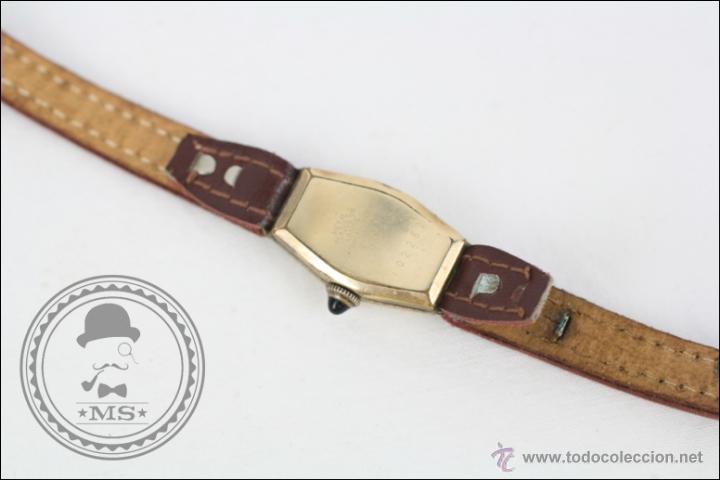 Relojes de pulsera: Reloj de Pulsera Femenino J. Boix - Manual. Funciona - Chapado en Oro - Caja 23 x 15 Mm - Foto 4 - 45145514