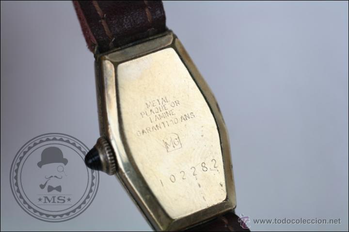 Relojes de pulsera: Reloj de Pulsera Femenino J. Boix - Manual. Funciona - Chapado en Oro - Caja 23 x 15 Mm - Foto 5 - 45145514