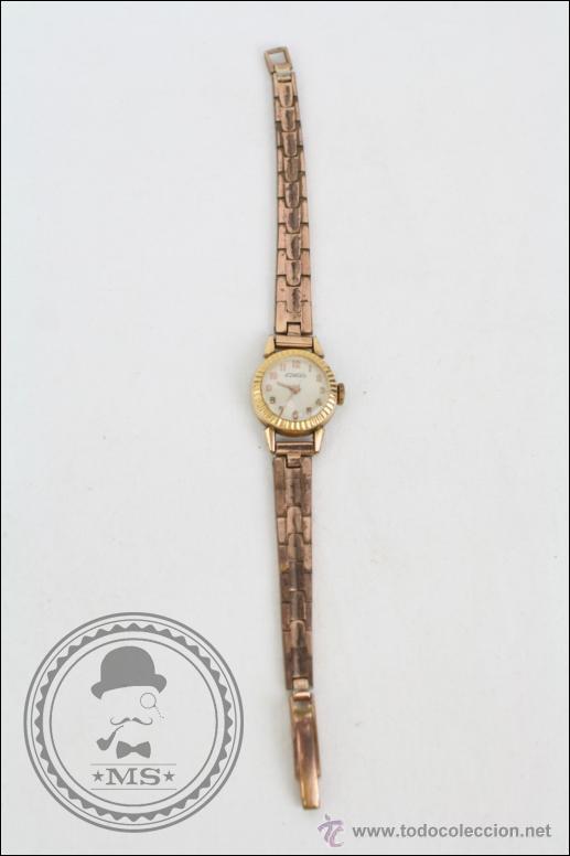 RELOJ DE PULSERA FEMENINO DUWARD - MANUAL. FUNCIONA - CHAPADO EN ORO 20 MICRAS - CAJA 18 MM DIÁMETRO (Relojes - Pulsera Carga Manual)