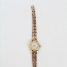 Relojes de pulsera: RELOJ DE PULSERA FEMENINO DUWARD - MANUAL. FUNCIONA - CHAPADO EN ORO 20 MICRAS - CAJA 18 MM DIÁMETRO. Lote 108236574
