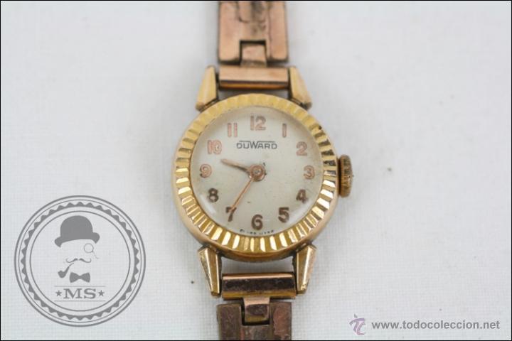 Relojes de pulsera: Reloj de Pulsera Femenino Duward - Manual. Funciona - Chapado en Oro 20 Micras - Caja 18 Mm Diámetro - Foto 2 - 108236574