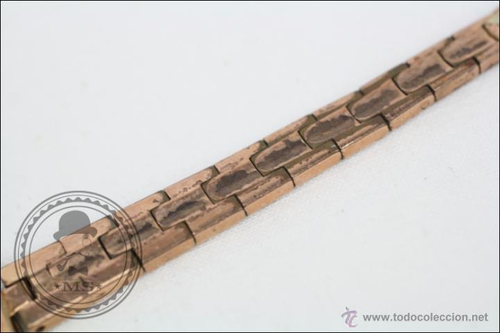 Relojes de pulsera: Reloj de Pulsera Femenino Duward - Manual. Funciona - Chapado en Oro 20 Micras - Caja 18 Mm Diámetro - Foto 3 - 108236574