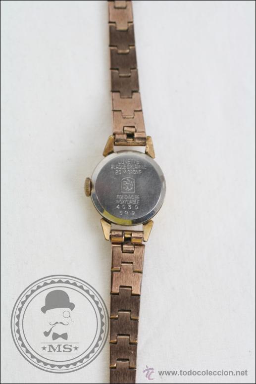 Relojes de pulsera: Reloj de Pulsera Femenino Duward - Manual. Funciona - Chapado en Oro 20 Micras - Caja 18 Mm Diámetro - Foto 4 - 108236574