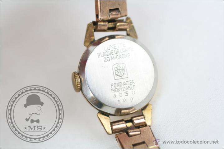 Relojes de pulsera: Reloj de Pulsera Femenino Duward - Manual. Funciona - Chapado en Oro 20 Micras - Caja 18 Mm Diámetro - Foto 6 - 108236574
