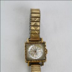 Relojes de pulsera: RELOJ DE PULSERA FEMENINO TITAN - MANUAL - CORREA ESLABONES. DORADO - CAJA 16 X 16 MM. Lote 45145870