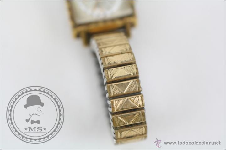 Relojes de pulsera: Reloj de Pulsera Femenino Titan - Manual - Correa Eslabones. Dorado - Caja 16 x 16 Mm - Foto 4 - 45145870