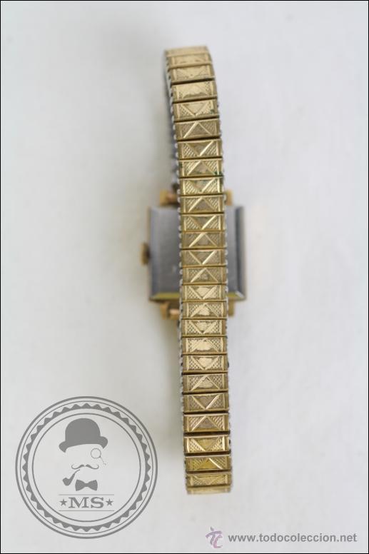 Relojes de pulsera: Reloj de Pulsera Femenino Titan - Manual - Correa Eslabones. Dorado - Caja 16 x 16 Mm - Foto 5 - 45145870