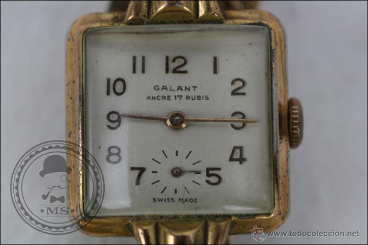 Relojes de pulsera: Reloj de Pulsera Femenino Galant - Manual. Piezas o Restauración - Dorado - Caja 22 x 22 Mm - Foto 2 - 45146473