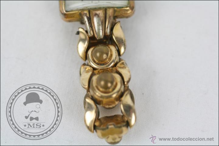 Relojes de pulsera: Reloj de Pulsera Femenino Galant - Manual. Piezas o Restauración - Dorado - Caja 22 x 22 Mm - Foto 3 - 45146473