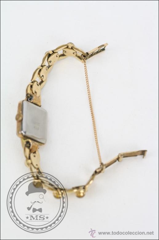 Relojes de pulsera: Reloj de Pulsera Femenino Galant - Manual. Piezas o Restauración - Dorado - Caja 22 x 22 Mm - Foto 4 - 45146473