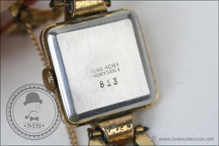 Relojes de pulsera: Reloj de Pulsera Femenino Galant - Manual. Piezas o Restauración - Dorado - Caja 22 x 22 Mm - Foto 6 - 45146473