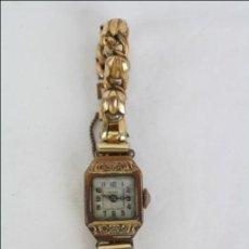 Relojes de pulsera: RELOJ DE PULSERA FEMENINO PORTUS - MANUAL. PIEZAS O RESTAURACIÓN - CHAPADO EN ORO - CAJA 21 X 15 MM. Lote 45146615