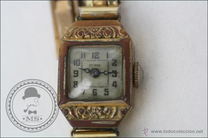 Relojes de pulsera: Reloj de Pulsera Femenino Portus - Manual. Piezas o Restauración - Chapado en Oro - Caja 21 x 15 Mm - Foto 2 - 45146615