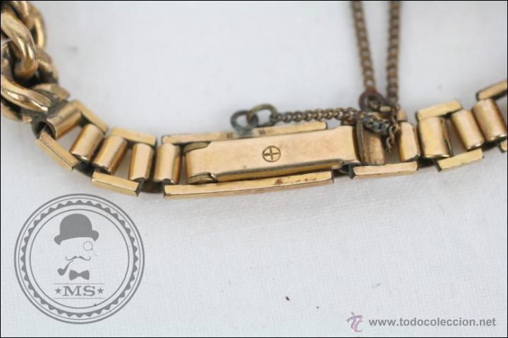 Relojes de pulsera: Reloj de Pulsera Femenino Portus - Manual. Piezas o Restauración - Chapado en Oro - Caja 21 x 15 Mm - Foto 3 - 45146615