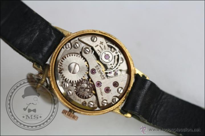 Relojes de pulsera: Reloj de Pulsera Femenino Duward - Manual. Piezas o Restauración - Dorado - Caja 20 Mm Diámetro - Foto 7 - 45146709