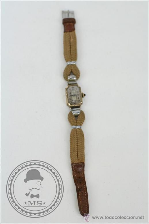RELOJ DE PULSERA FEMENINO REELLE - MANUAL. PIEZAS O RESTAURACIÓN - CHAPADO EN ORO - CAJA 20 X 14 MM (Relojes - Pulsera Carga Manual)
