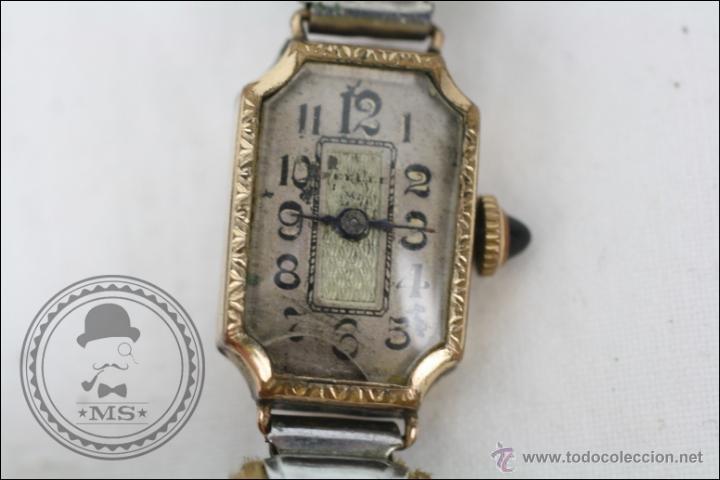 Relojes de pulsera: Reloj de Pulsera Femenino Reelle - Manual. Piezas o Restauración - Chapado en Oro - Caja 20 x 14 Mm - Foto 2 - 45146923
