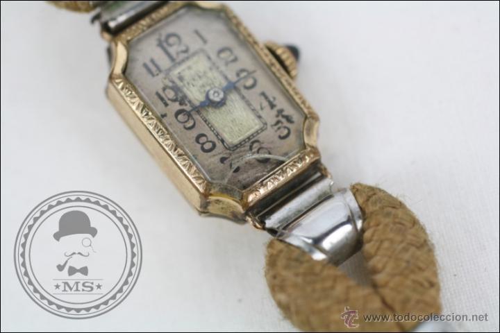 Relojes de pulsera: Reloj de Pulsera Femenino Reelle - Manual. Piezas o Restauración - Chapado en Oro - Caja 20 x 14 Mm - Foto 3 - 45146923