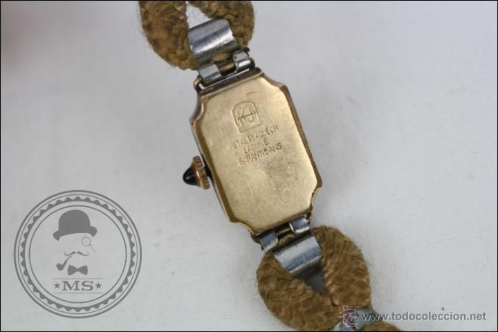 Relojes de pulsera: Reloj de Pulsera Femenino Reelle - Manual. Piezas o Restauración - Chapado en Oro - Caja 20 x 14 Mm - Foto 4 - 45146923