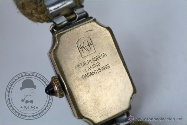 Relojes de pulsera: Reloj de Pulsera Femenino Reelle - Manual. Piezas o Restauración - Chapado en Oro - Caja 20 x 14 Mm - Foto 5 - 45146923