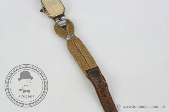 Relojes de pulsera: Reloj de Pulsera Femenino Reelle - Manual. Piezas o Restauración - Chapado en Oro - Caja 20 x 14 Mm - Foto 6 - 45146923
