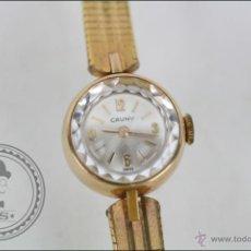Relojes de pulsera: RELOJ DE PULSERA FEMENINO CAUNY PRIMA - MANUAL.PIEZAS O RESTAURACIÓN - CHAPADO ORO - CAJA 16 MM DIÁM. Lote 45147418