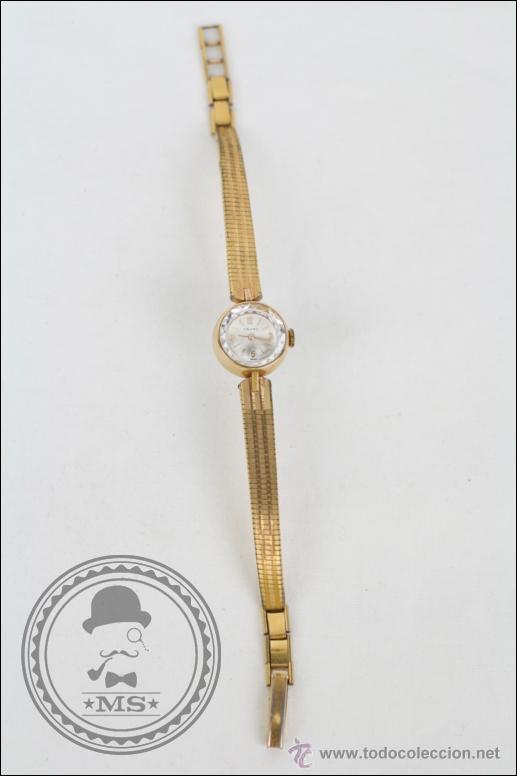 Relojes de pulsera: Reloj de Pulsera Femenino Cauny Prima - Manual.Piezas o Restauración - Chapado Oro - Caja 16 Mm Diám - Foto 2 - 45147418