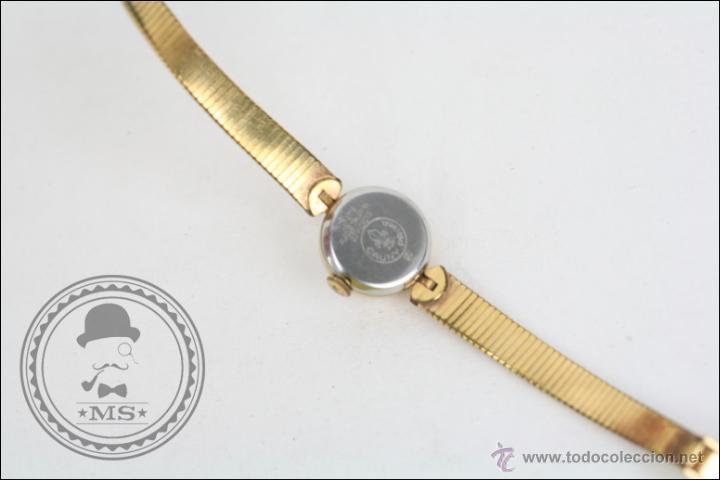 Relojes de pulsera: Reloj de Pulsera Femenino Cauny Prima - Manual.Piezas o Restauración - Chapado Oro - Caja 16 Mm Diám - Foto 4 - 45147418