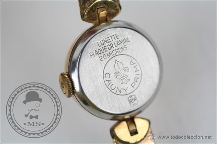 Relojes de pulsera: Reloj de Pulsera Femenino Cauny Prima - Manual.Piezas o Restauración - Chapado Oro - Caja 16 Mm Diám - Foto 5 - 45147418