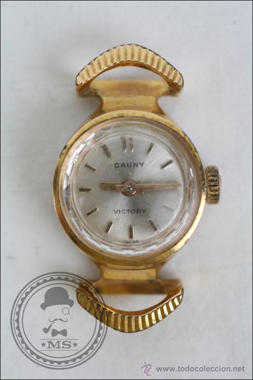 CAJA DE RELOJ PULSERA CAUNY VICTORY - MANUAL. PIEZAS O RESTAURACIÓN - CHAPADA ORO - CAJA 15 MM DIÁM (Relojes - Pulsera Carga Manual)