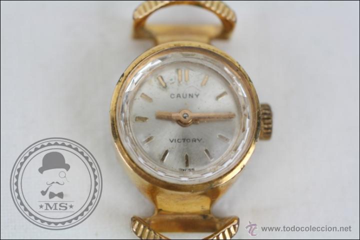 Relojes de pulsera: Caja de Reloj Pulsera Cauny Victory - Manual. Piezas o Restauración - Chapada Oro - Caja 15 Mm Diám - Foto 2 - 45150744