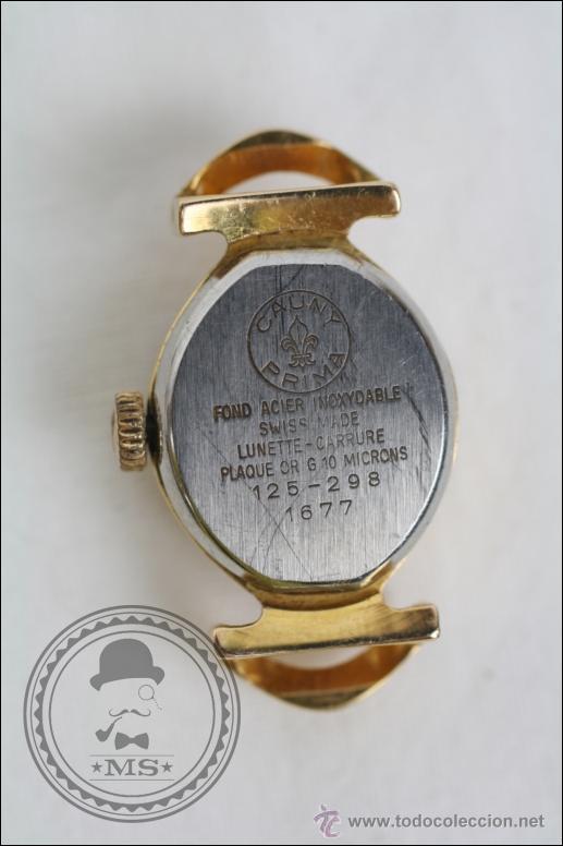 Relojes de pulsera: Caja de Reloj Pulsera Cauny Victory - Manual. Piezas o Restauración - Chapada Oro - Caja 15 Mm Diám - Foto 3 - 45150744