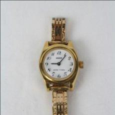 Relojes de pulsera: RELOJ DE PULSERA FEMENINO VADUR - MANUAL. FUNCIONA - DORADO - CAJA 20 MM DE DIÁMETRO. Lote 45604260