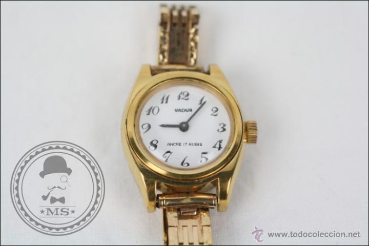 Relojes de pulsera: Reloj de Pulsera Femenino Vadur - Manual. Funciona - Dorado - Caja 20 Mm de Diámetro - Foto 2 - 45604260